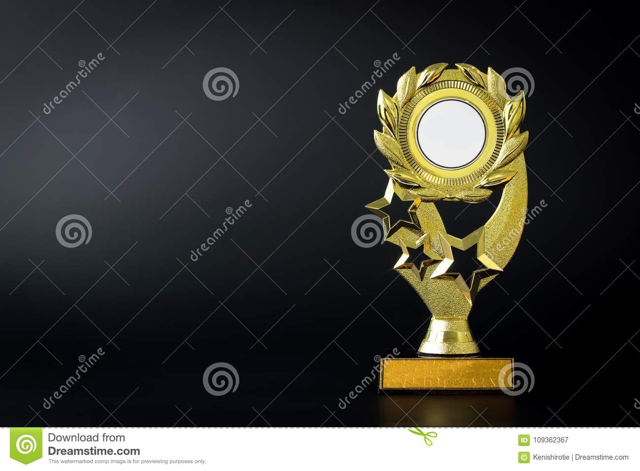 Download Gold Trophy On Black Stock Image Of Graduation