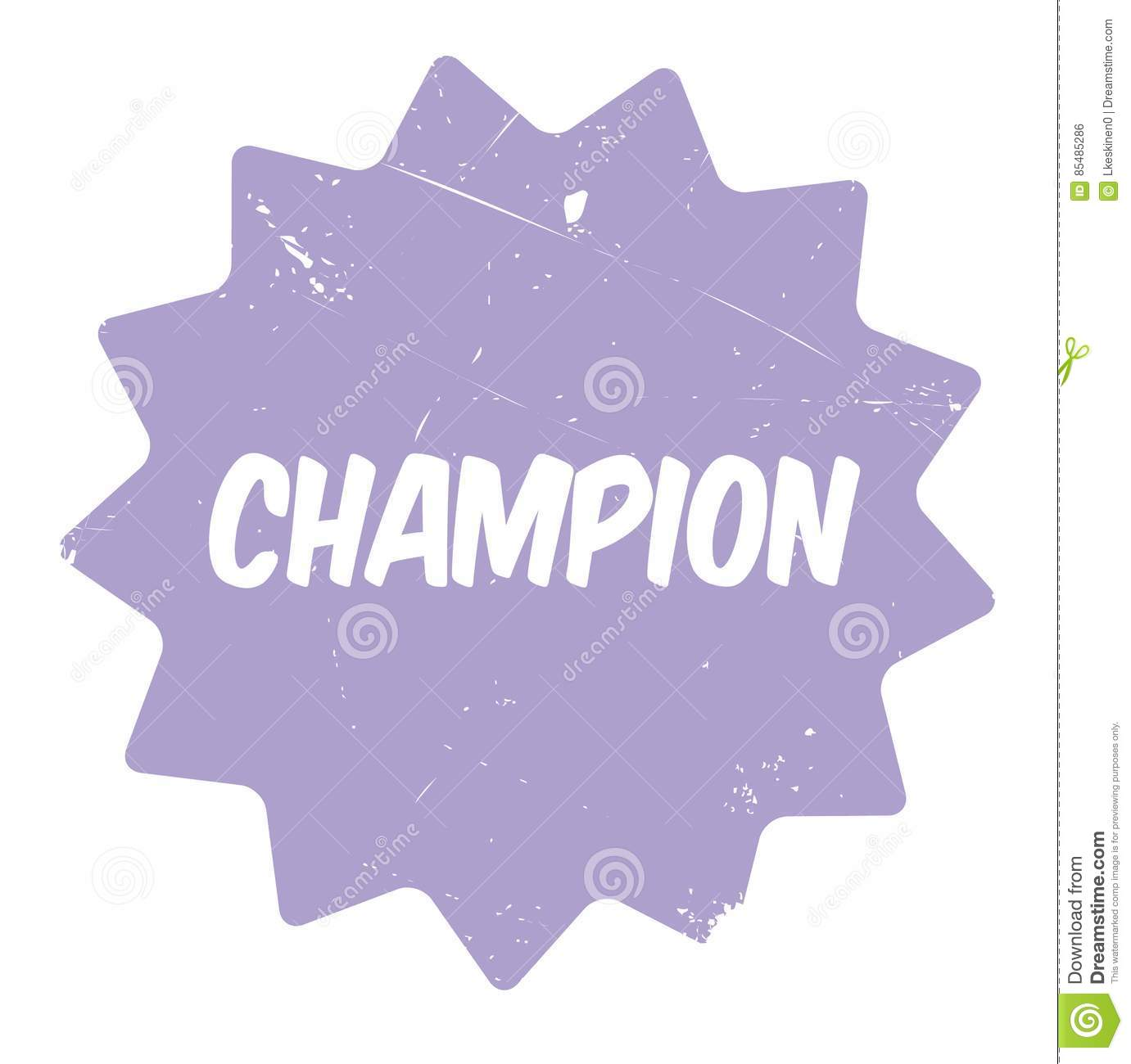 Champion Rubber Stamp Stock Illustration Of Champ