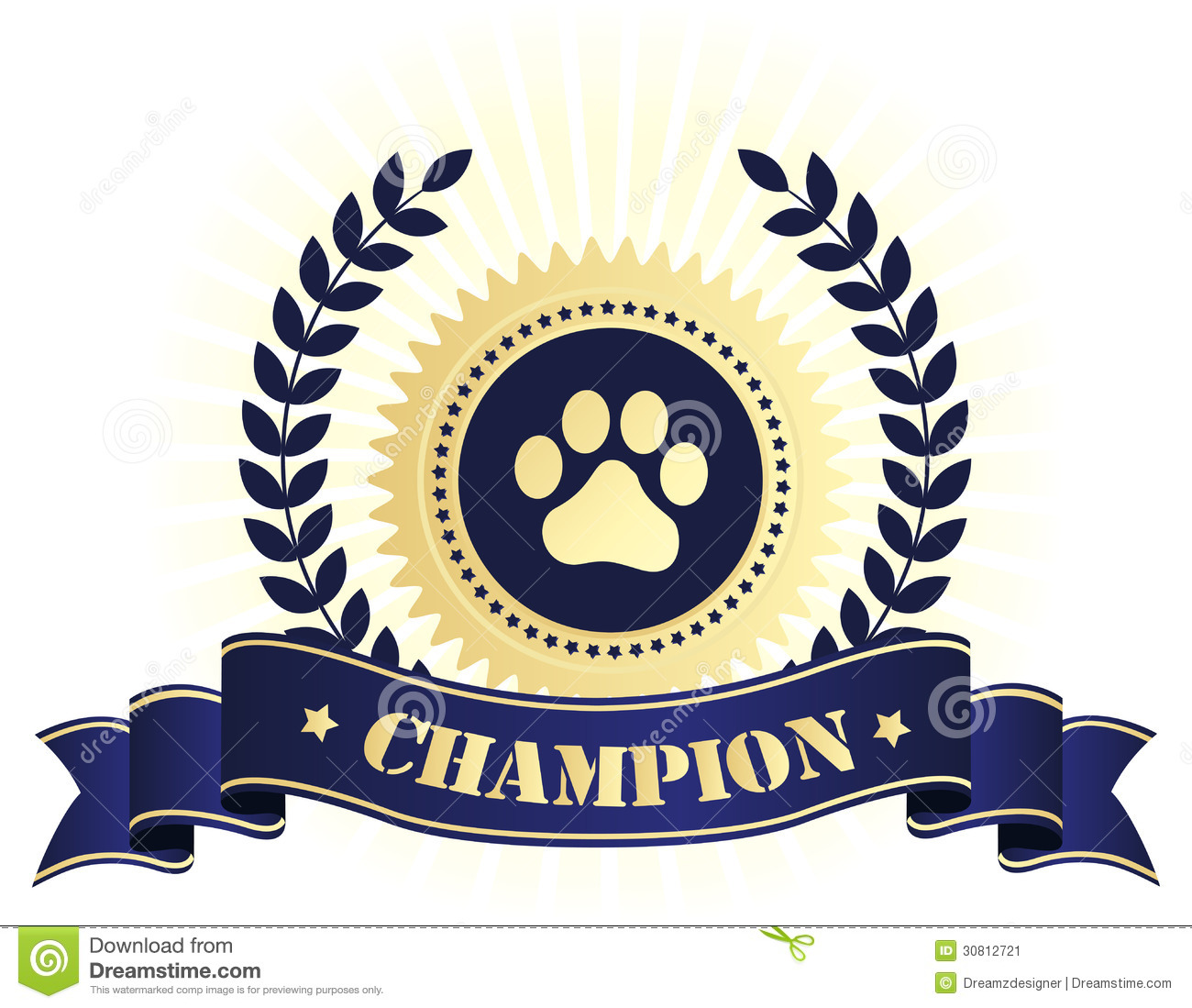 champion seal with dog paw print stock vector image Leopard Paw Print Clip Art Small Paw Print Clip Art