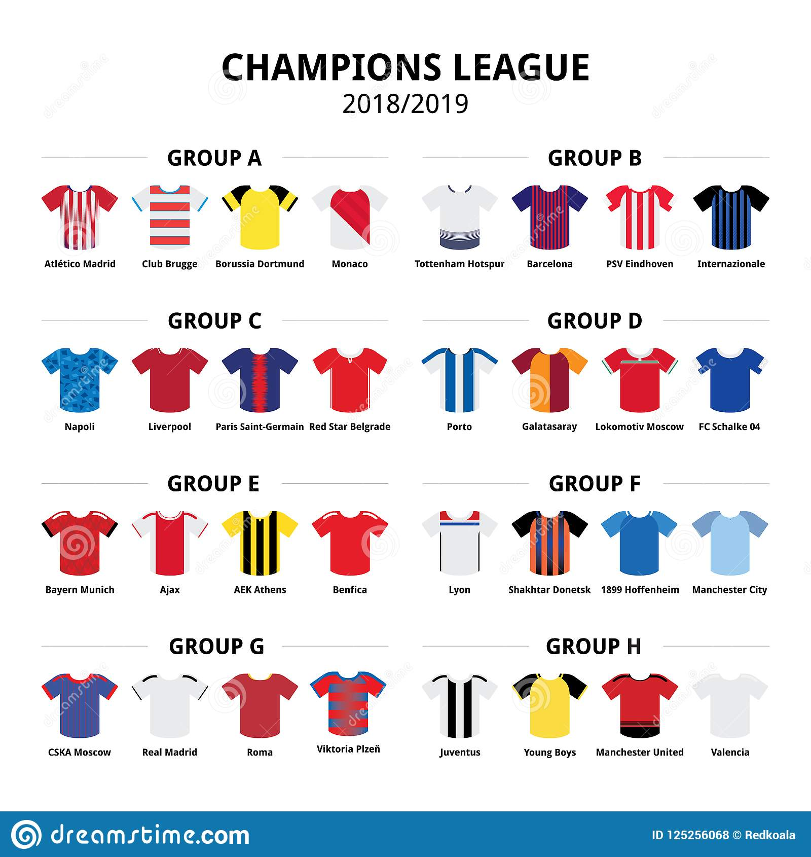 Champions League Football Jerseys Kit 2018 - 2019 b59ae9354