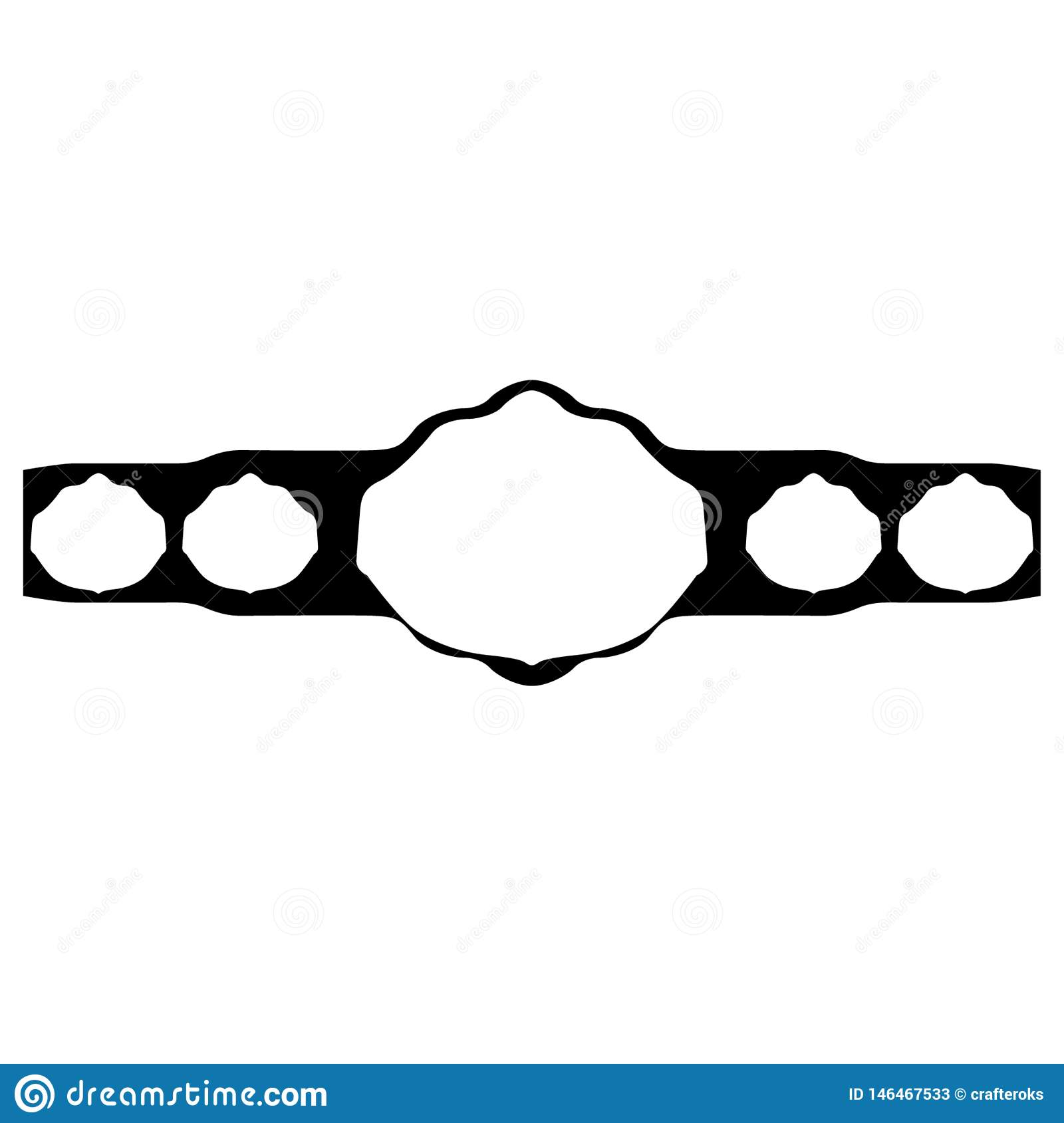 image regarding Printable Wrestling Belt Template named Championship Belt Hand Drawn Crafteroks Svg Totally free, Absolutely free Svg