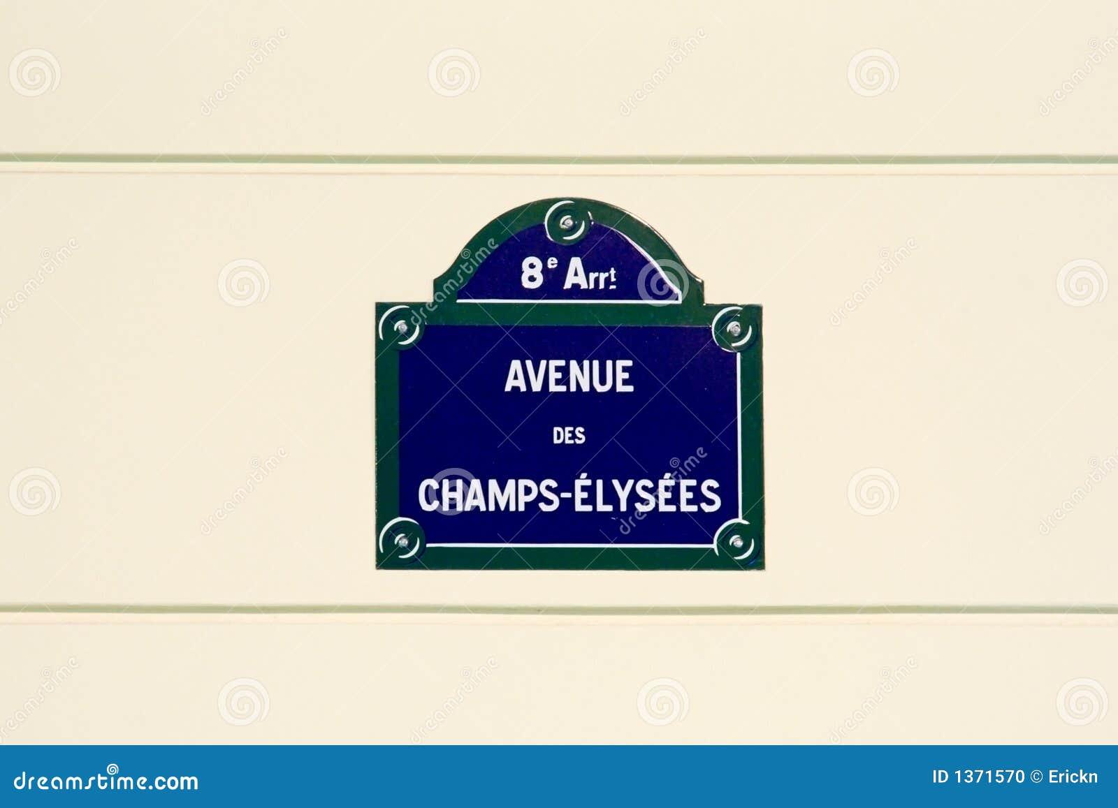 Champs-Elyseesstraßenplatte Stockfoto - Bild von frankreich, allee ...