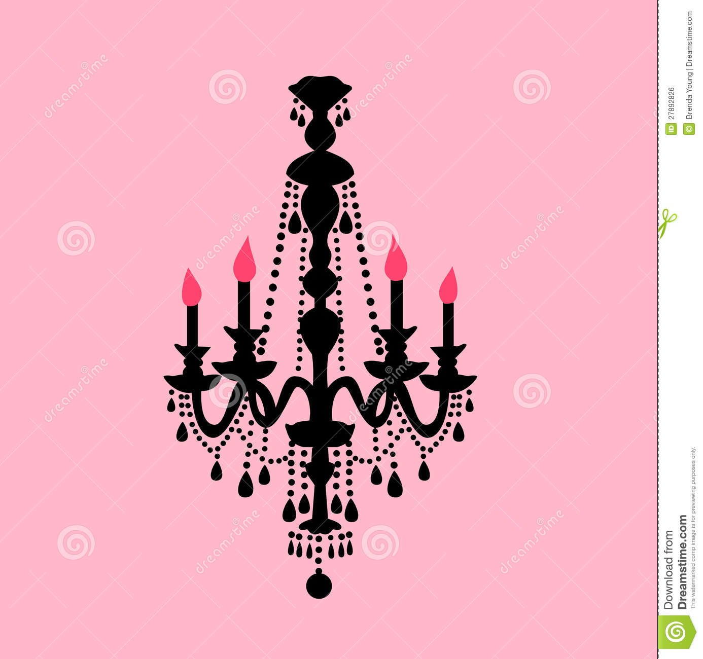 Chandelier Illustration Of A Black And Pink Design Royalty Free Stock Image