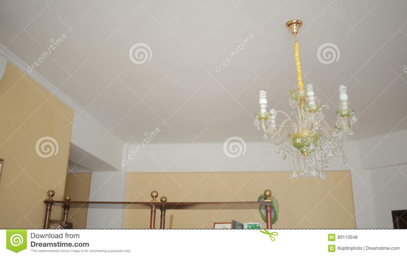 Chandelier ceiling lamp swinging in the event of an earthquake chandelier ceiling lamp swinging in the event of an earthquake stock footage video of destruction debris 89110548 arubaitofo Choice Image