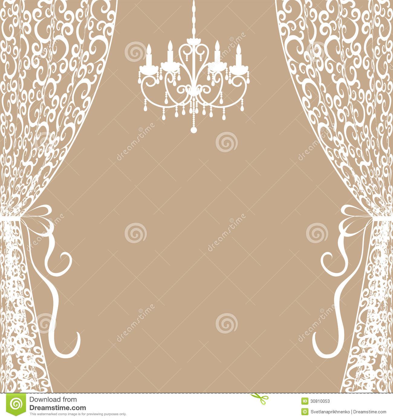 Chandelier And Curtains Stock Photos - Image: 30810053