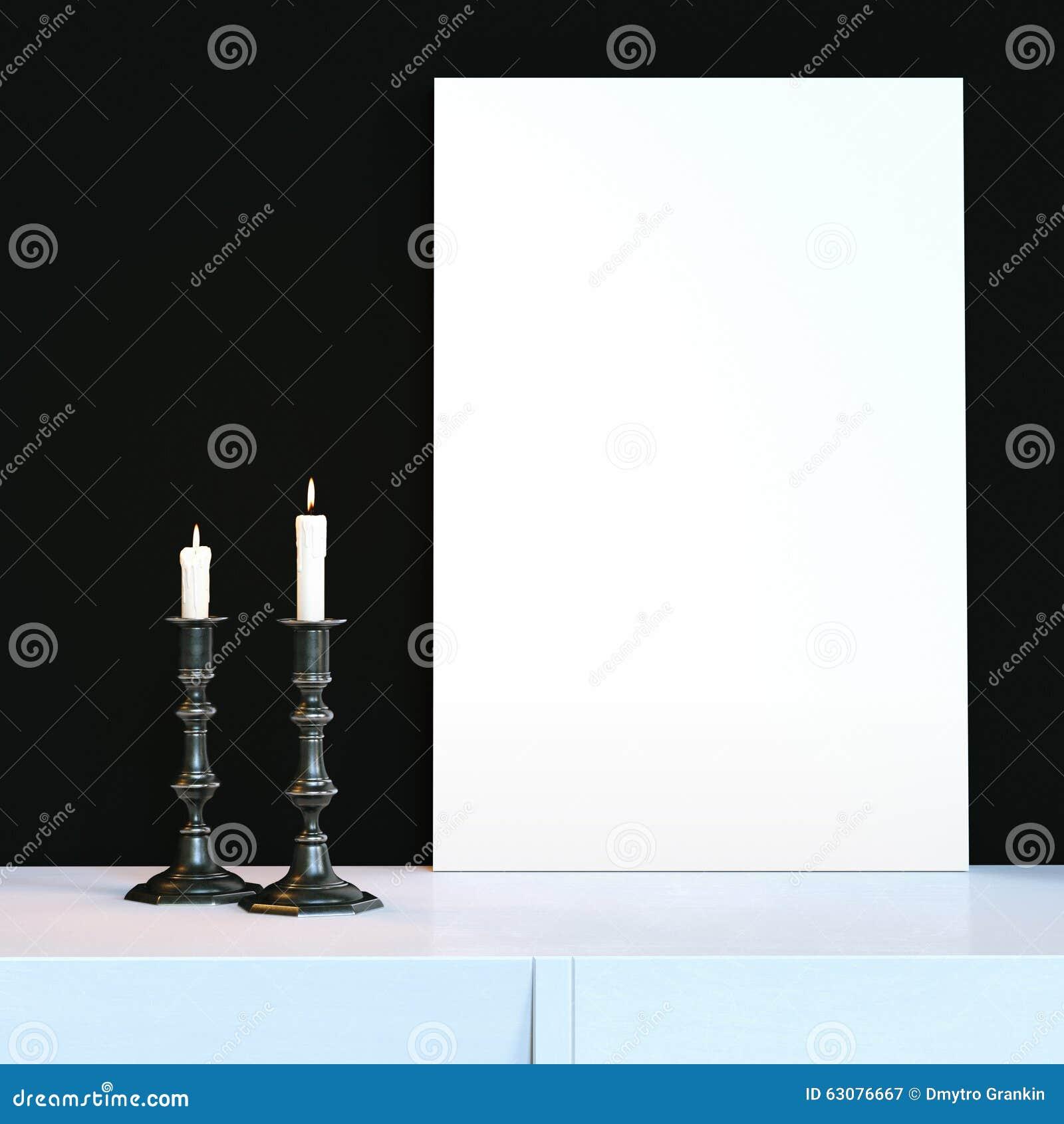 Download Chandelier De Deux Vintages Avec Les Bougies Et L'appareil-photo Brûlants De Vintage Image stock - Image du blanc, foncé: 63076667