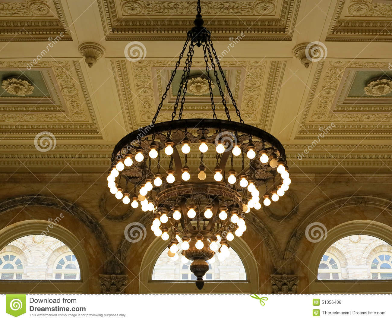 Chandelier stock photo image 51056406 - Building a chandelier ...