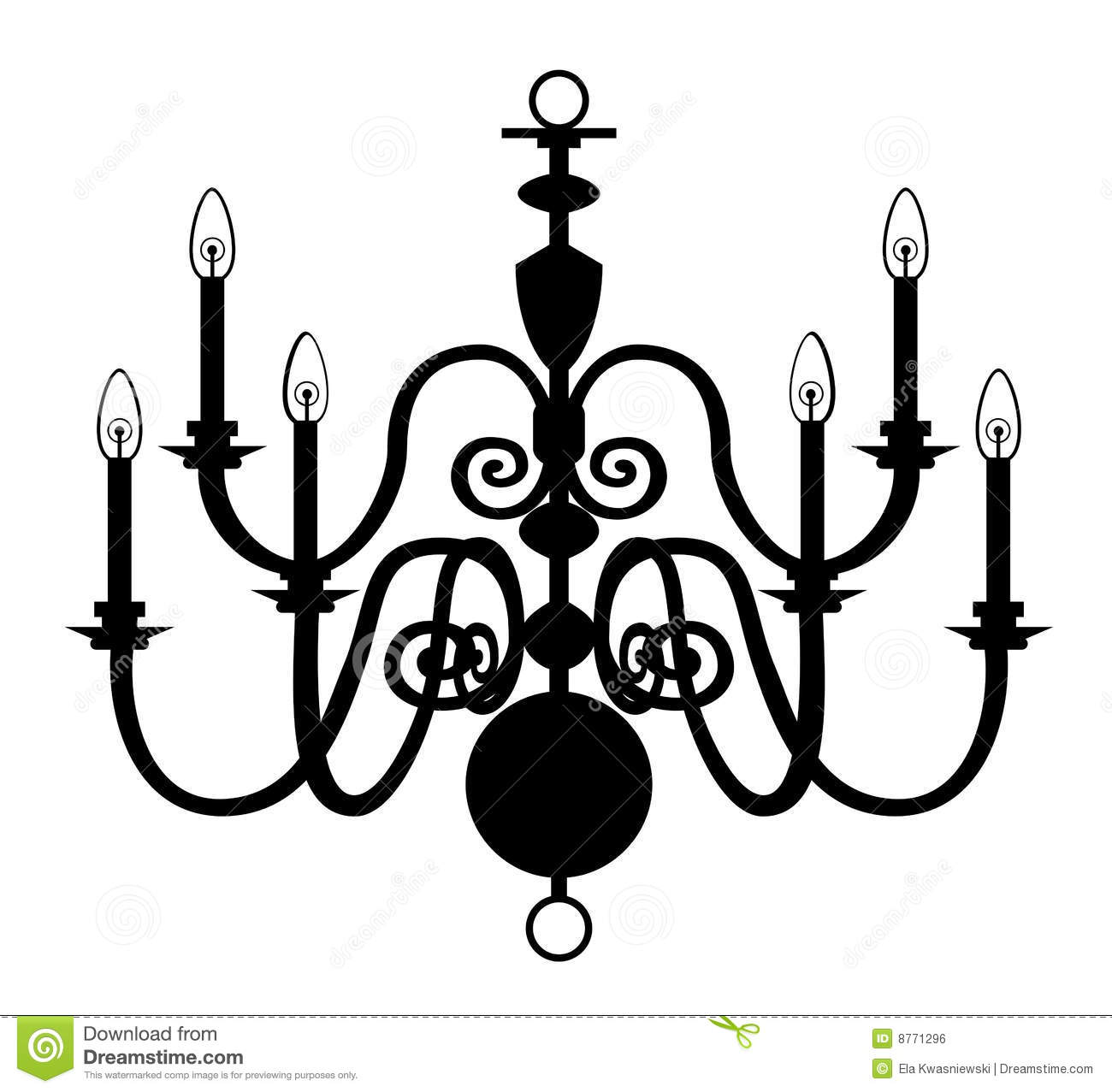 Chandelier Isolated On The White Stock Vector Illustration Of