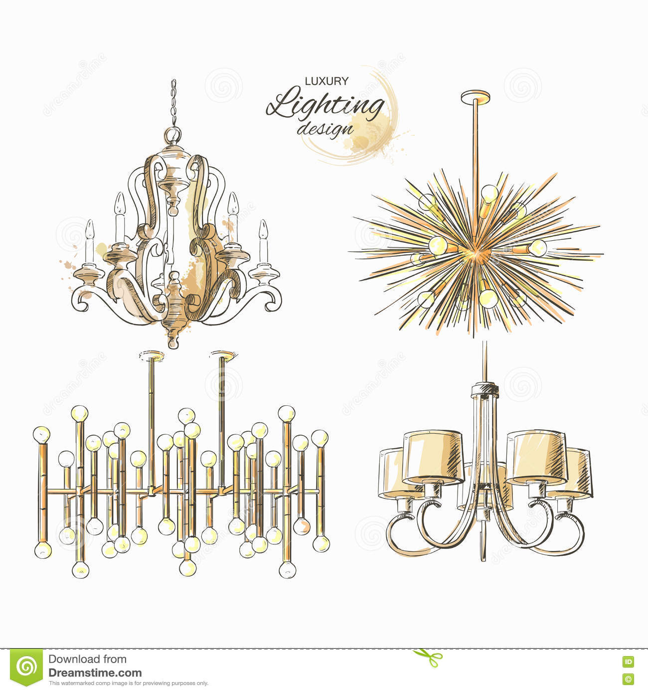 Chandelier Lamp Lighting Decor Stock Vector - Illustration of ...