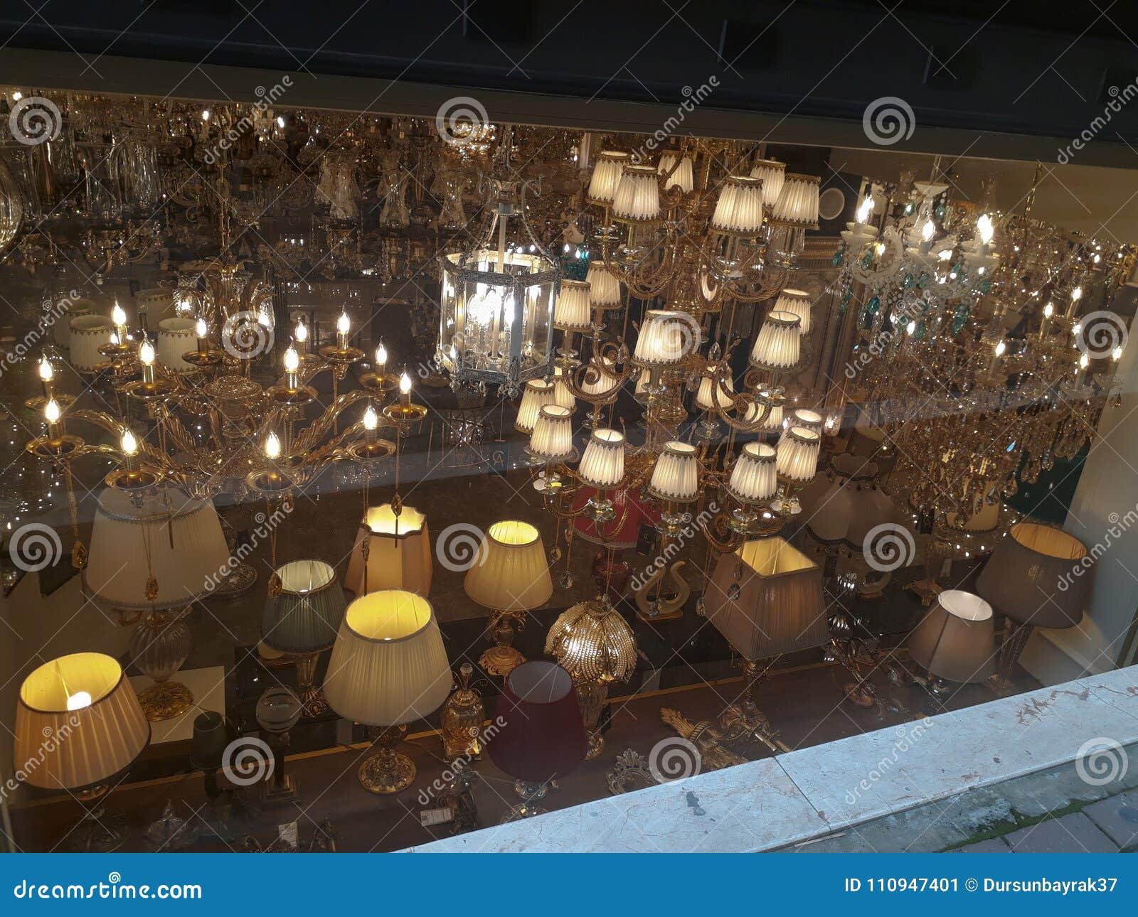Chandelier & Lampshade Shop in Beyoglu Istanbul