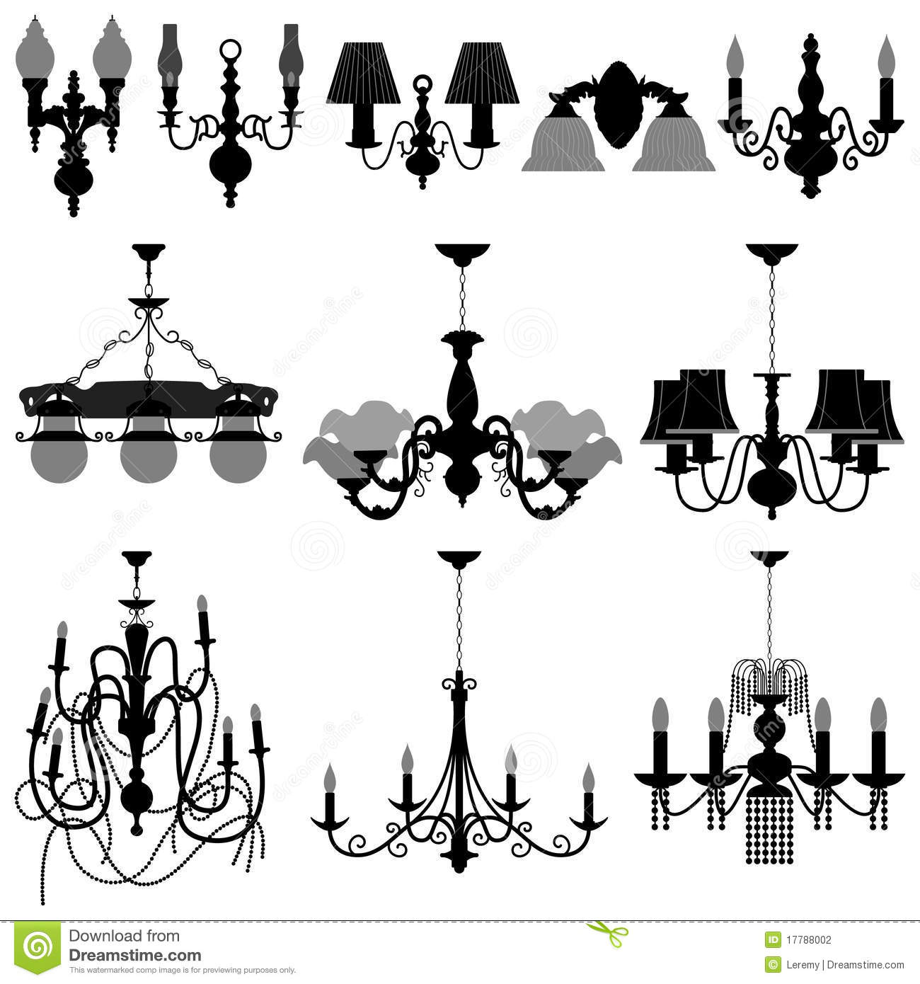 Chandelier Light Lamp stock vector. Illustration of accessories ...