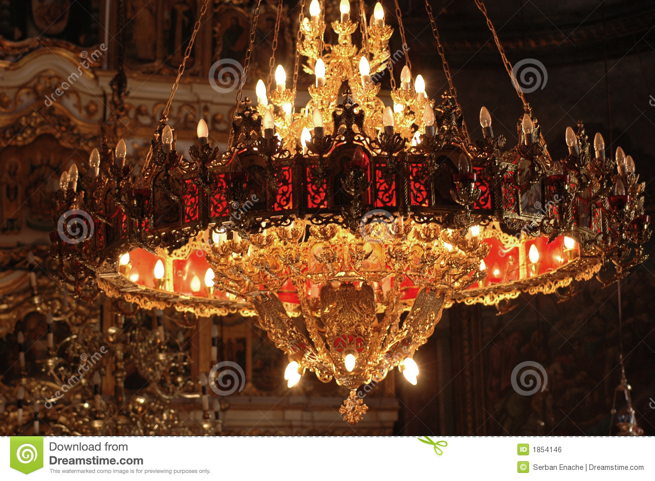Chandelier In An Orthodox Church Stock Photo Image 1854146