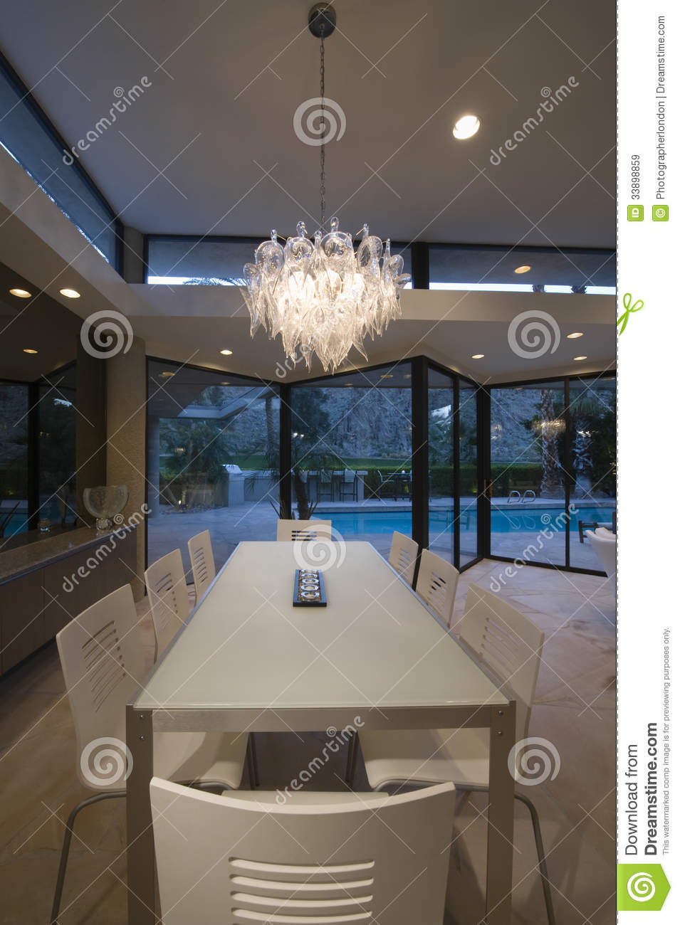 Chandelier over dining table at house royalty free stock images image 3389 - Suspension plusieurs boules ...