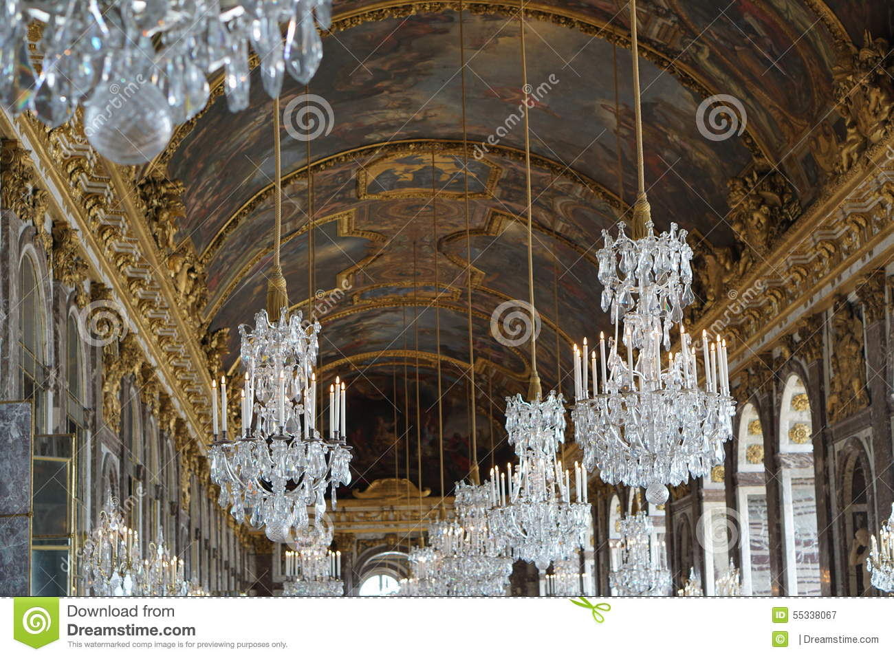 The chandelier room in versailles chateu stock image image of the chandelier room in versailles chateu arubaitofo Image collections