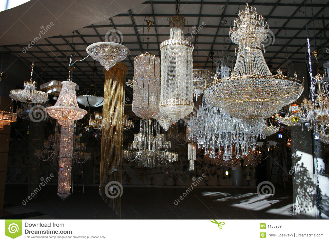 Chandelier Shop Stock Image Image Of Lamps Candle Black