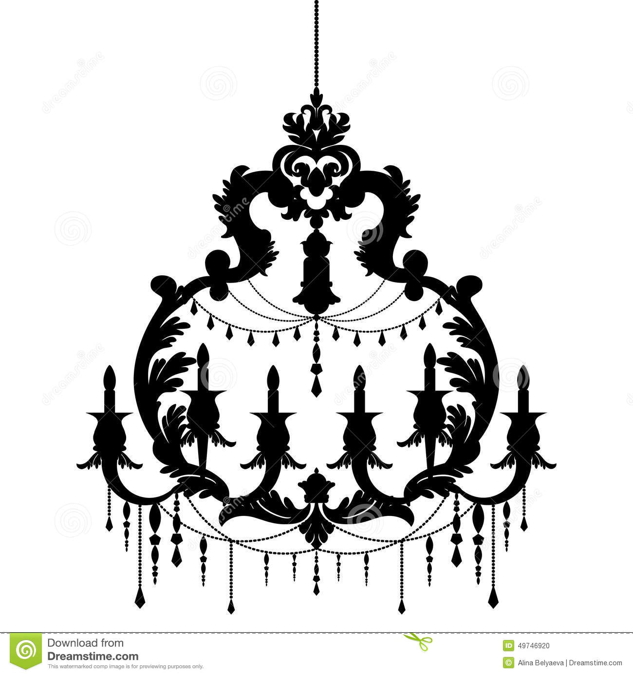 Chandelier silhouette isolated on white background stock vector chandelier silhouette isolated on white background elegance antique aloadofball Gallery
