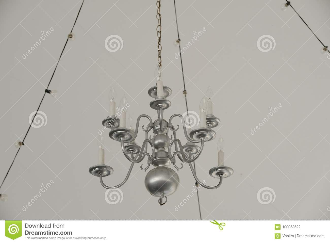 Chandelier stock photo. Image of decor, chandelier, electricity ...