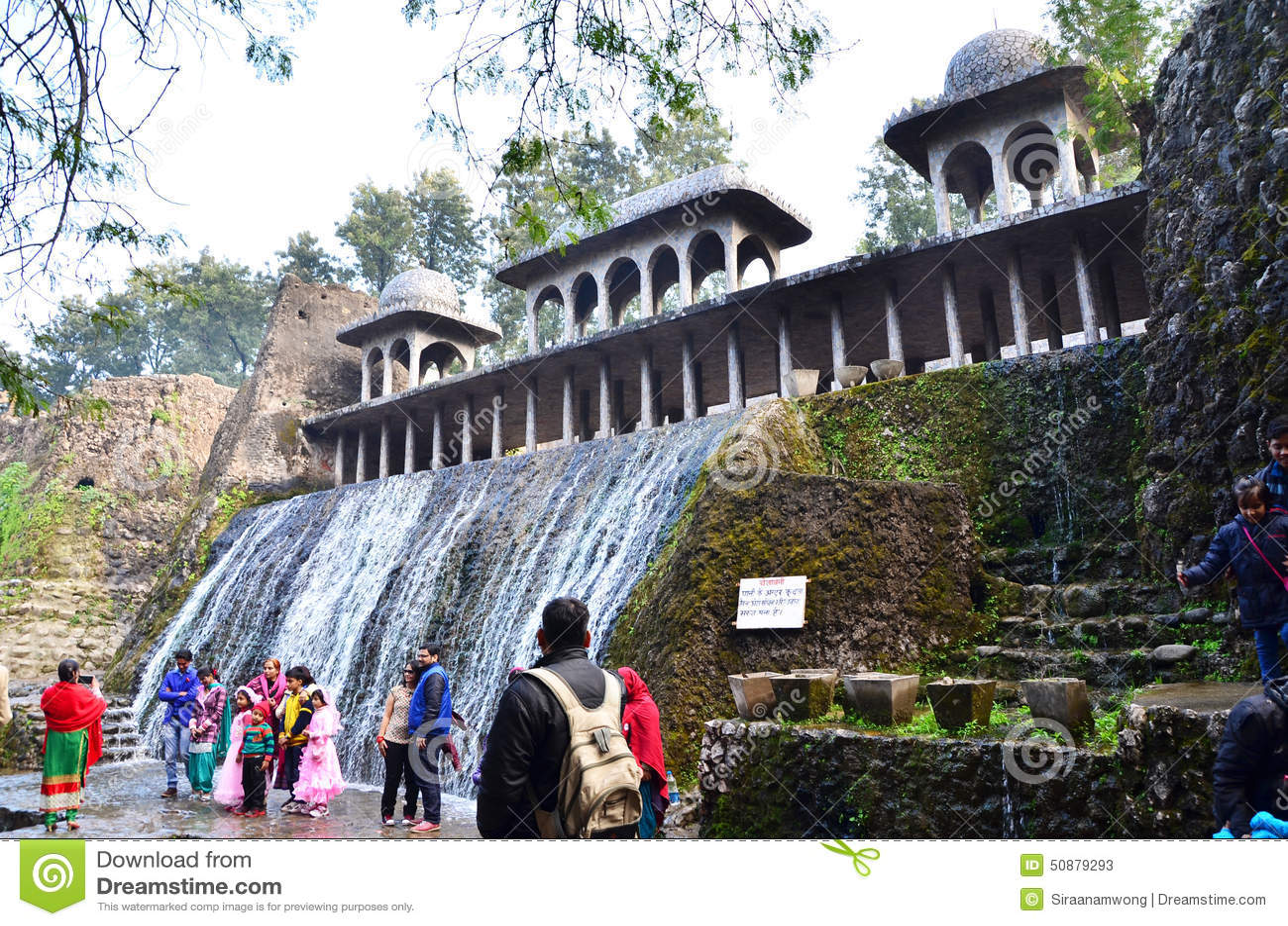 Chandigarh India January 4 2015 People Visit Rock