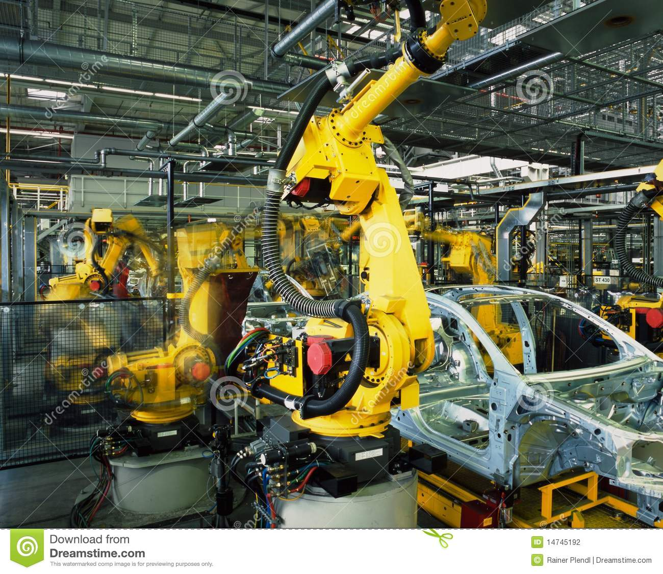Automobile Manufacturing Robots Spray Painting Robots