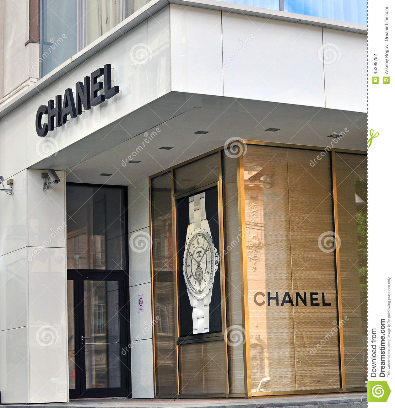 chanel boutique exterior editorial photography image of facade 45299252. Black Bedroom Furniture Sets. Home Design Ideas