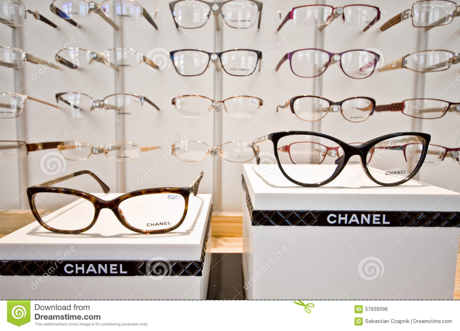 Eyeglasses display - Chanel Eyeglass Frames Editorial Photo