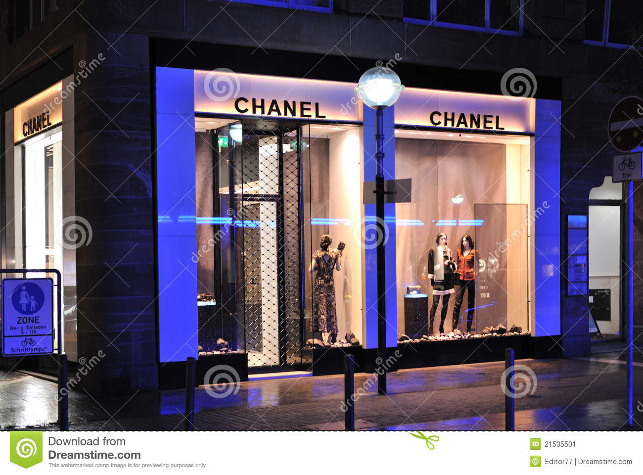 Chanel fashion store editorial photo. Image of colors ...