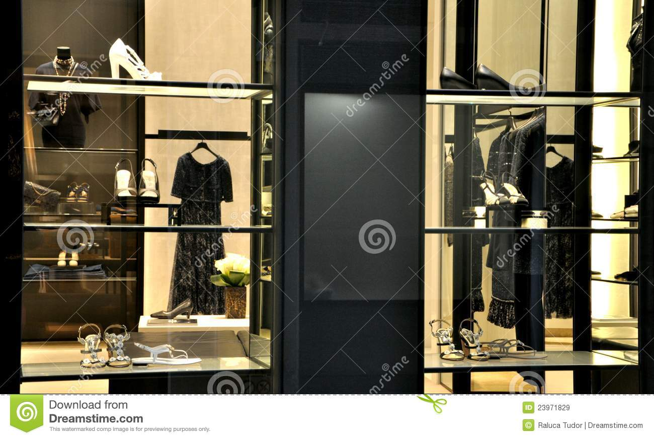 Chanel fashion store editorial stock image. Image of fine ...