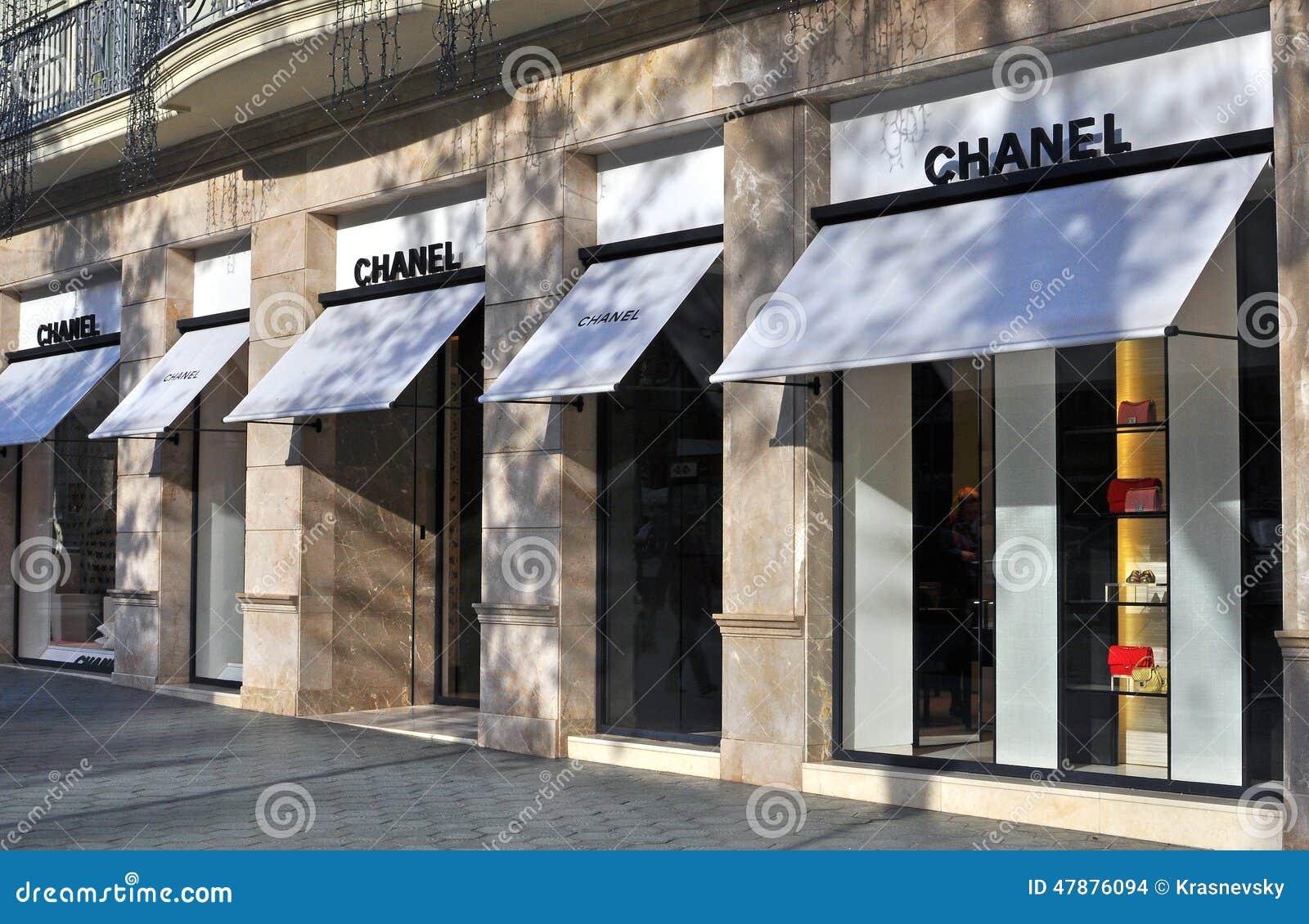 Chanel Statku Flagowego Sklep Obraz Stock Editorial Obraz Złożonej