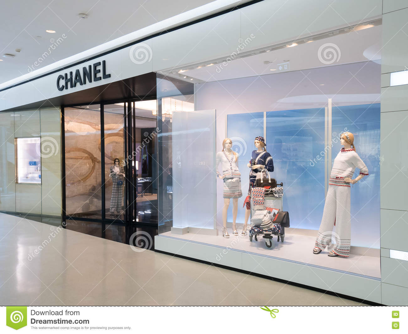 Chanel Fashion Store Editorial Image