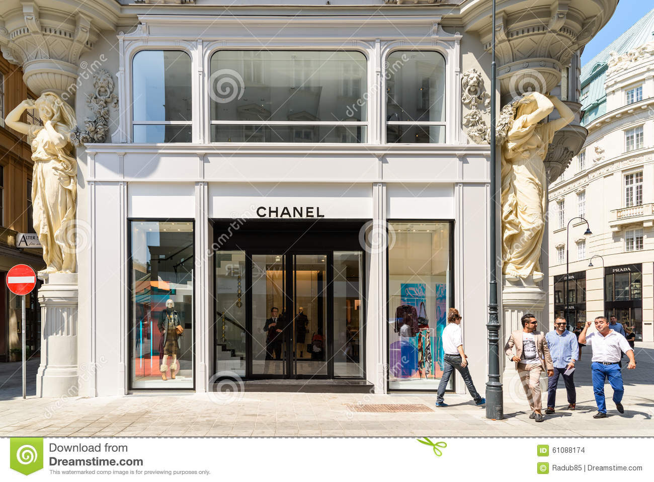 Chanel store editorial stock image image of clothes for French couture houses