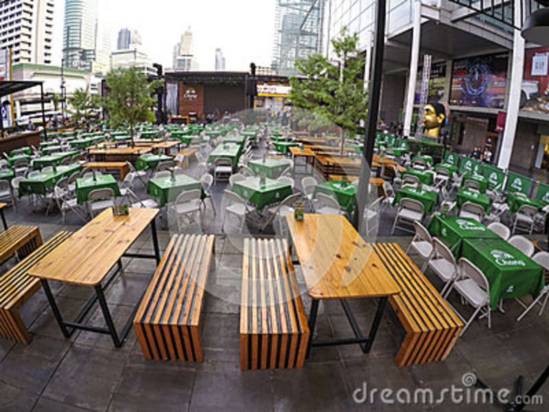 Chang beer cafe editorial photo image 48344831 for Outdoor furniture thailand bangkok