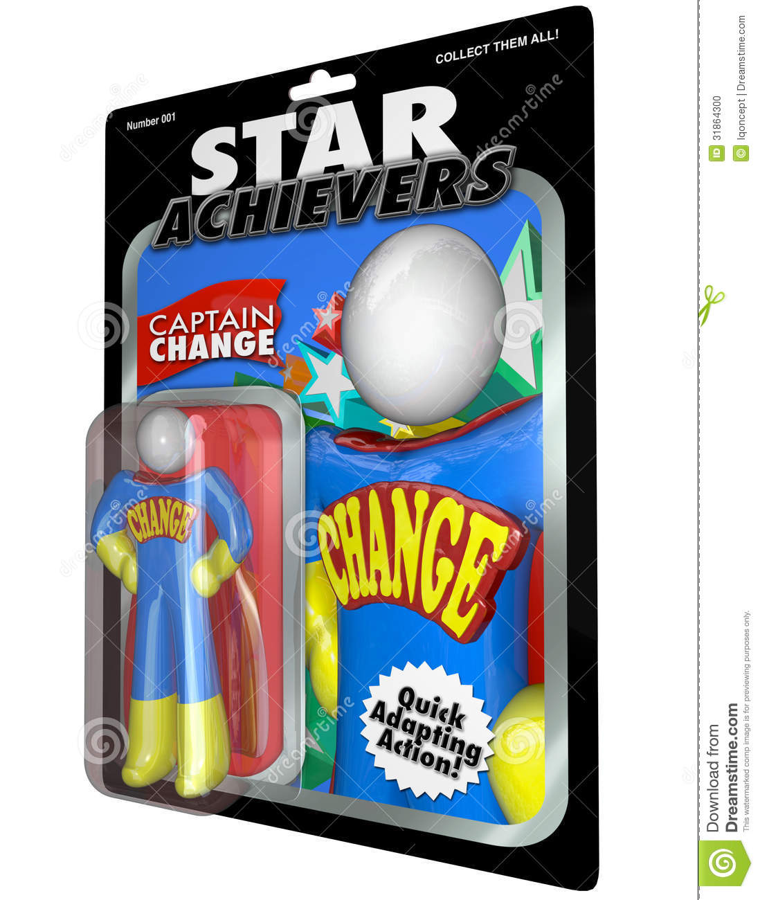Change Action Figure - Adjust and Adapt with Successful Leader