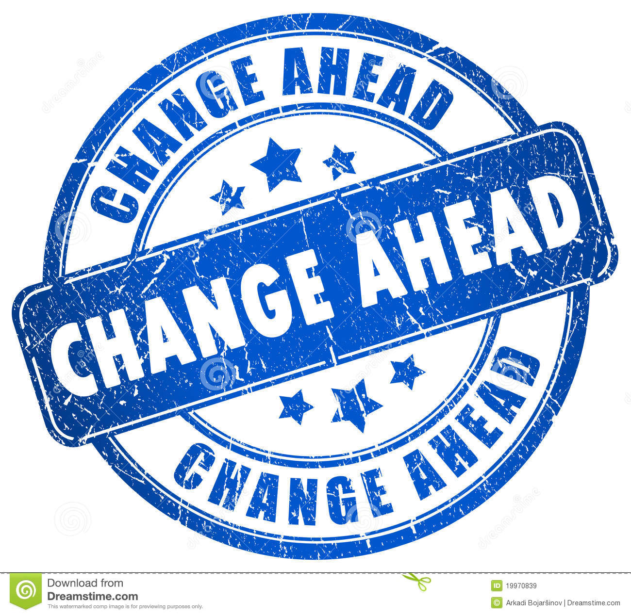 Change Ahead Royalty Free Stock Images Image 19970839