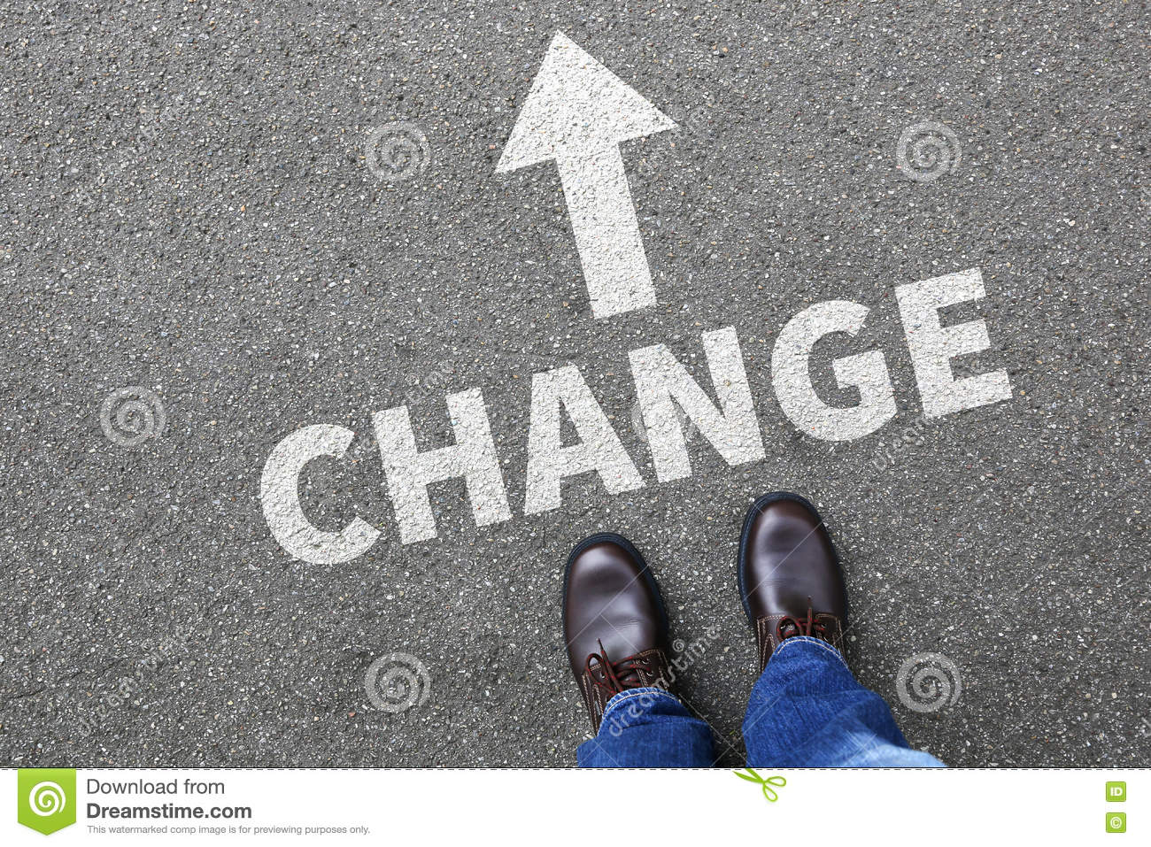Change changing work job life changes concept