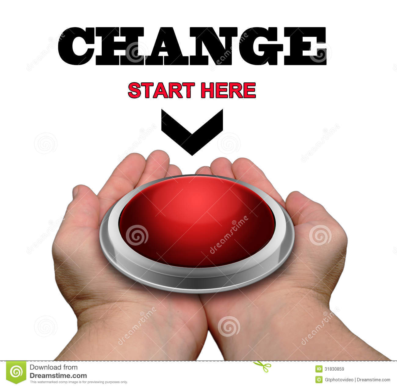 Change - Start Here Button Royalty Free Stock Images ...