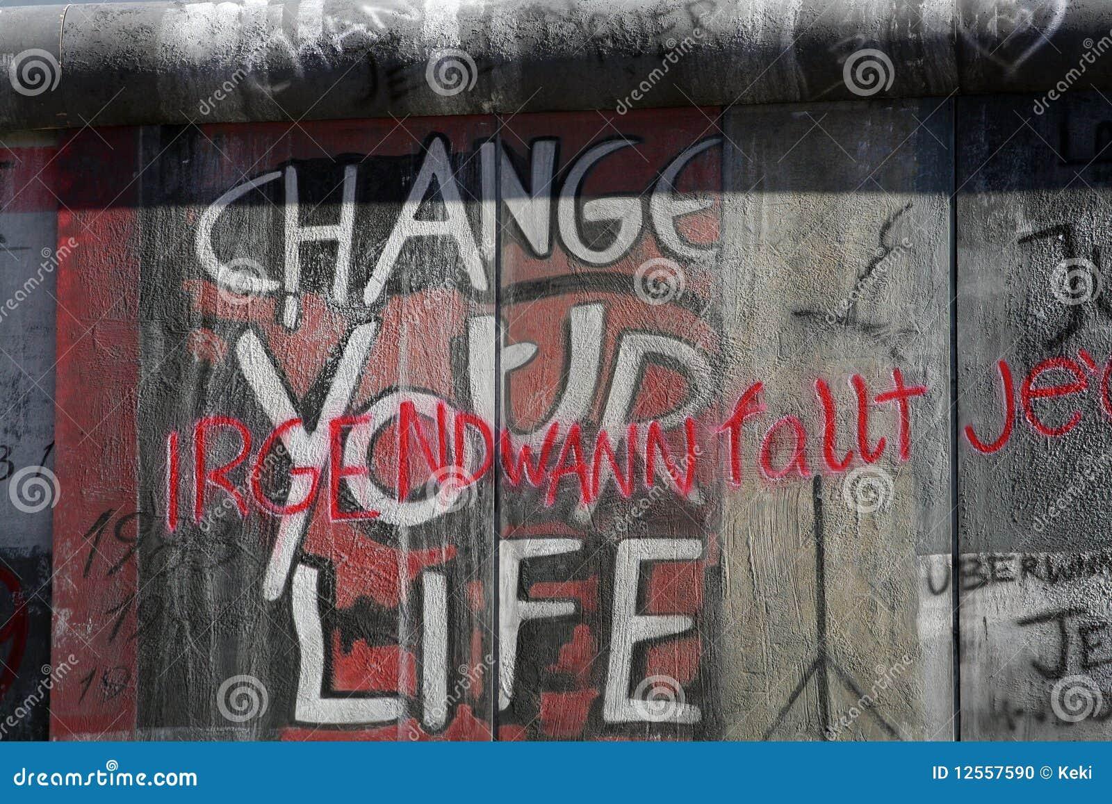Your graffiti wall - Change Your Life Stock Photo Berlin Change Graffiti Life Wall
