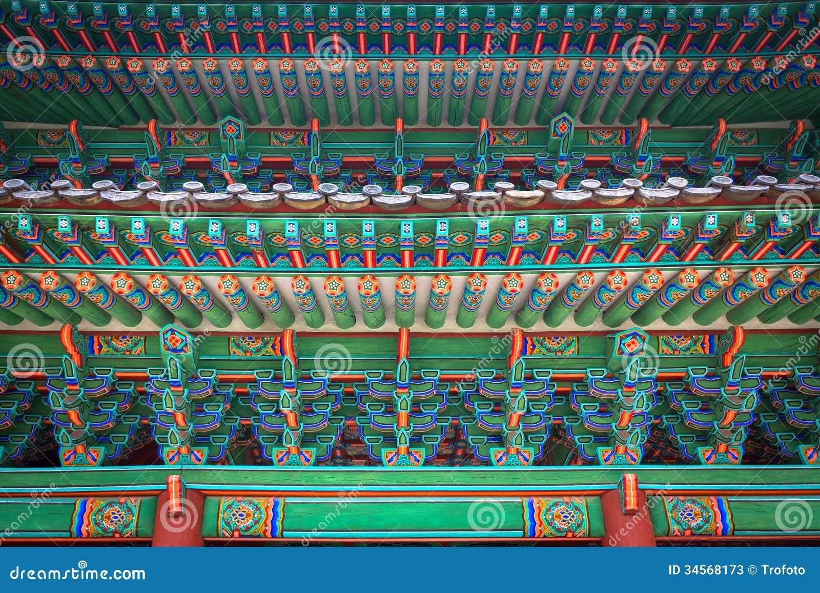 Changgyeonggung宫殿,汉城,韩国门的片段