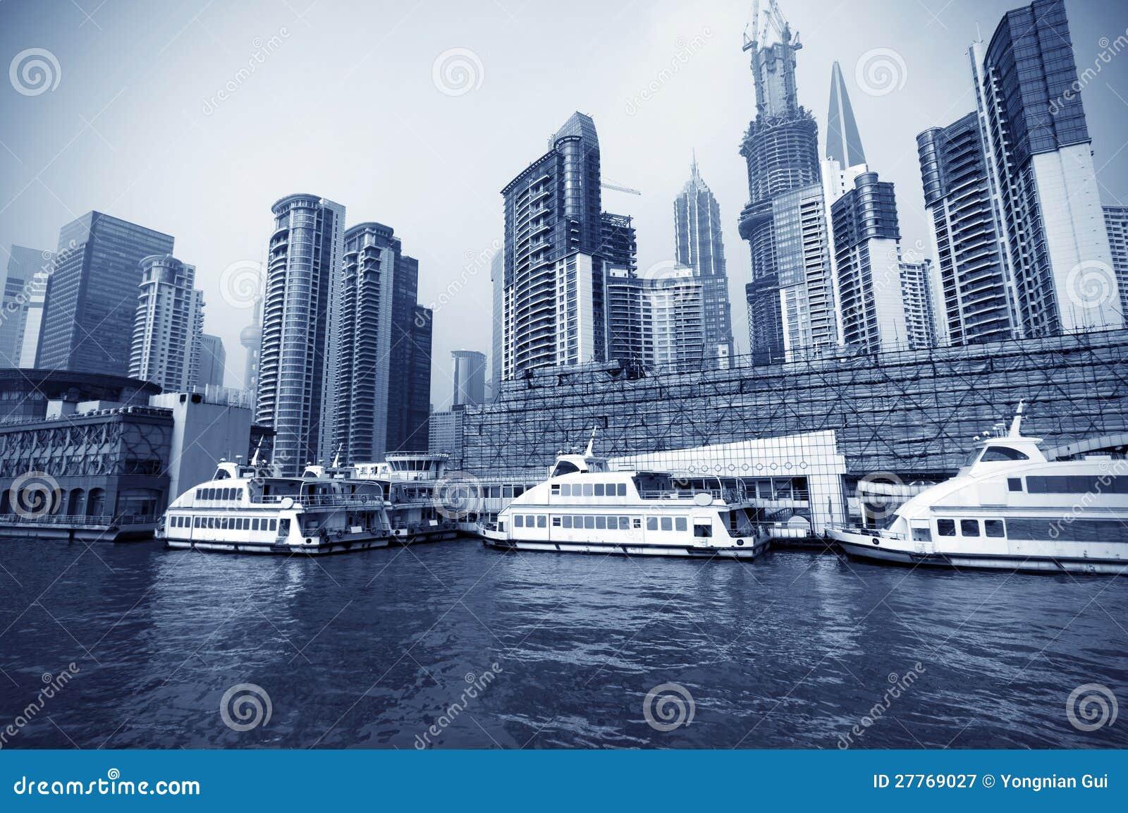 Changhaï le fleuve Huangpu