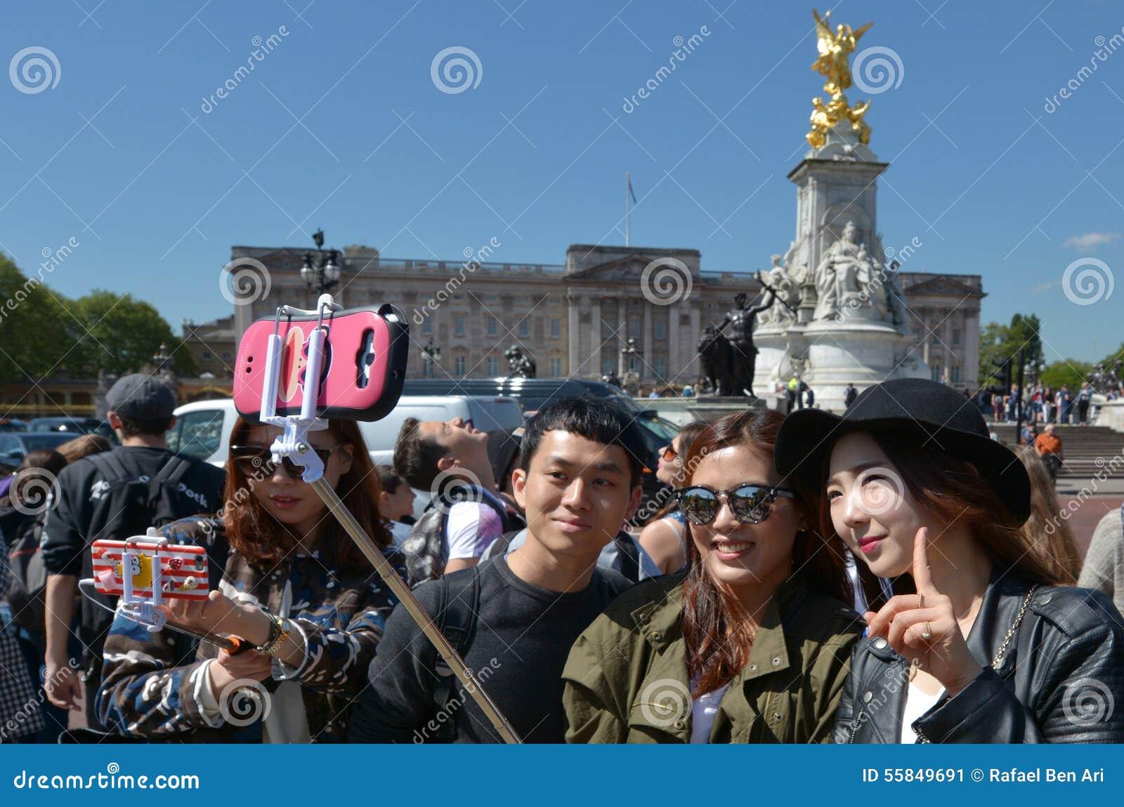 Changing the Guards ceremony at Buckingham Palace London UK
