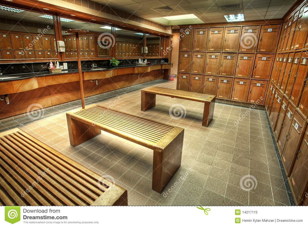 Changing Or Locker Room In A Country Club Stock Image