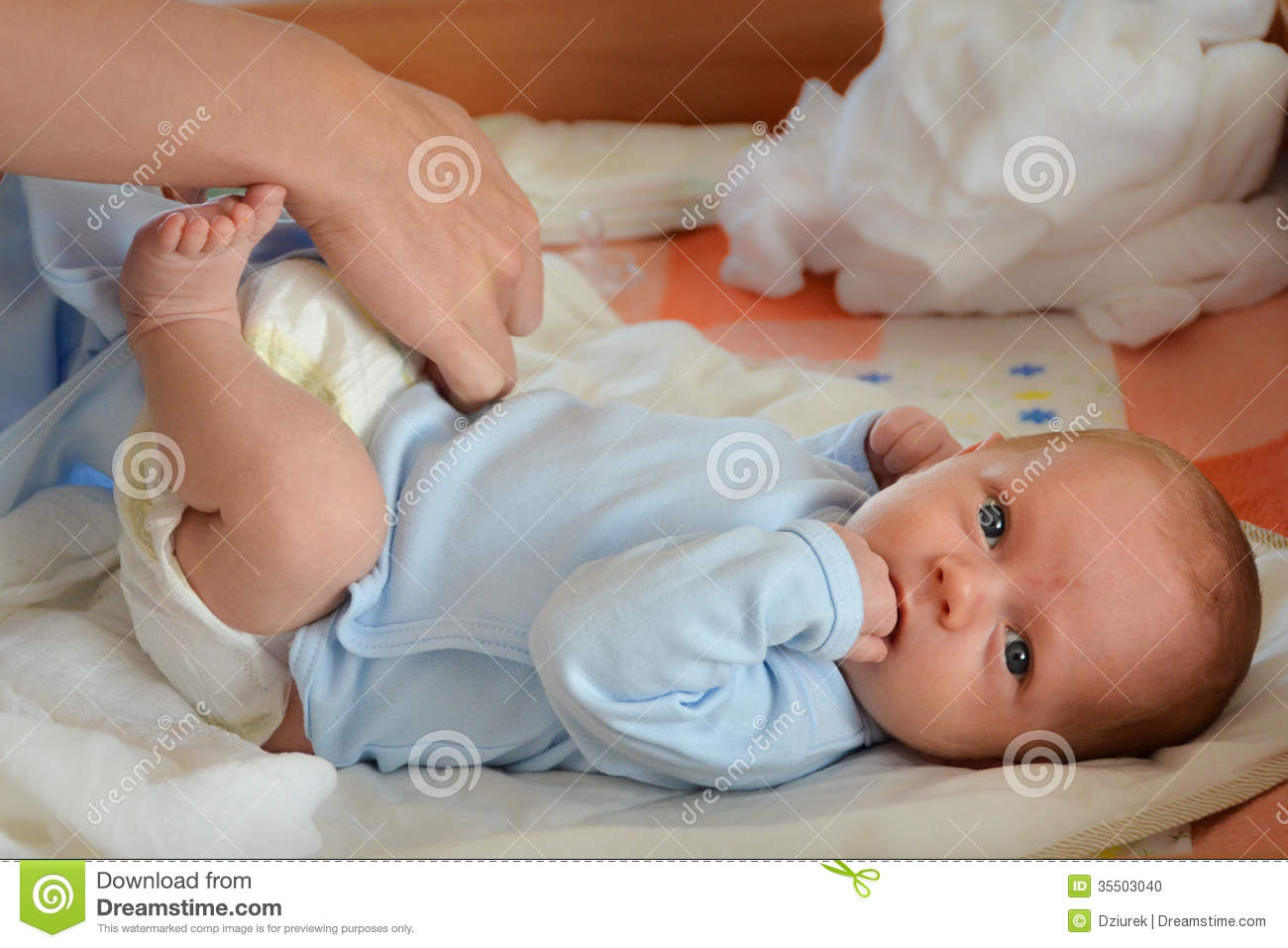 Changing Nappy Stock Photo Image Of Crying Gentle
