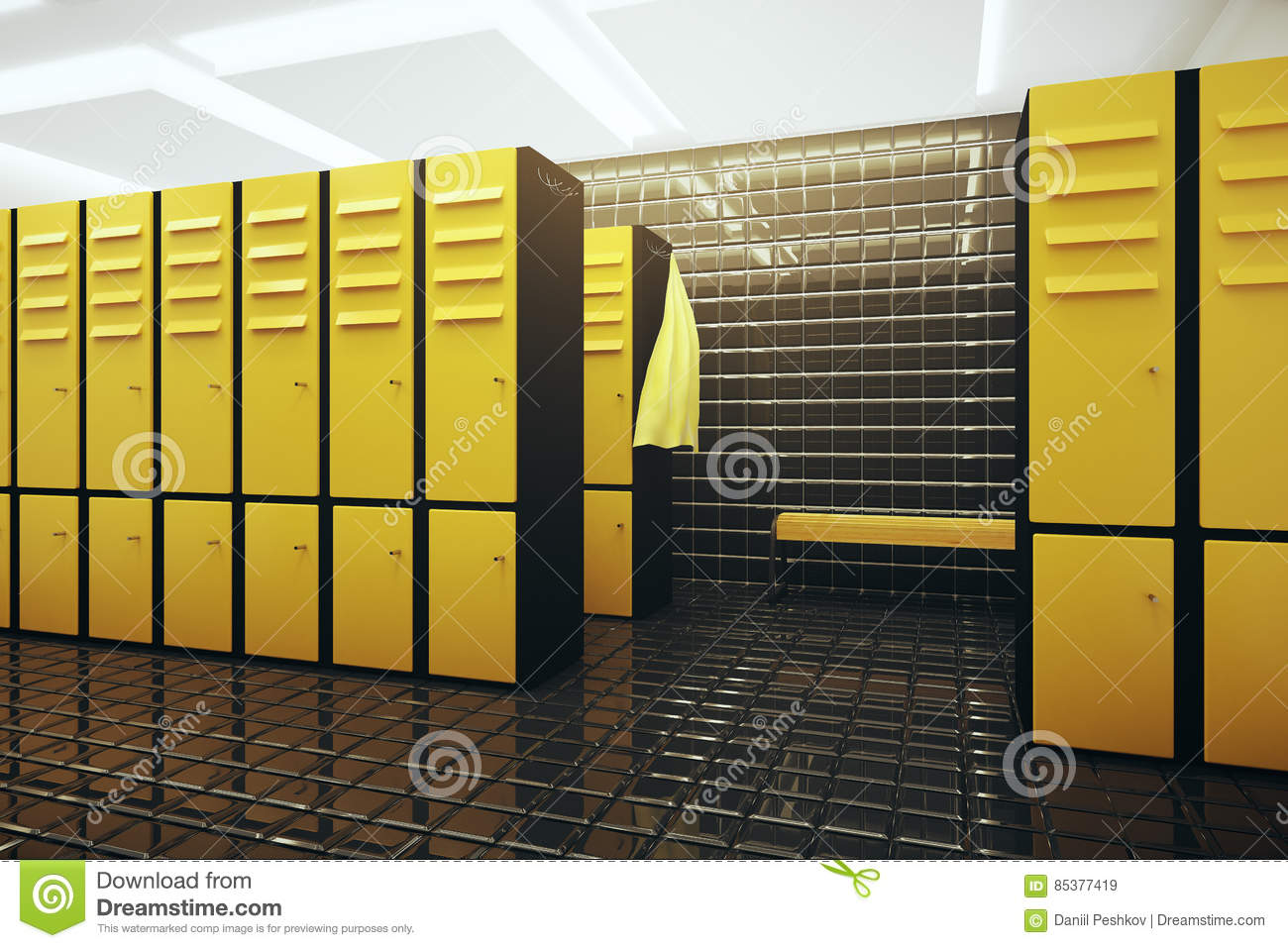 Changing room stock illustration  Illustration of indoors - 85377419