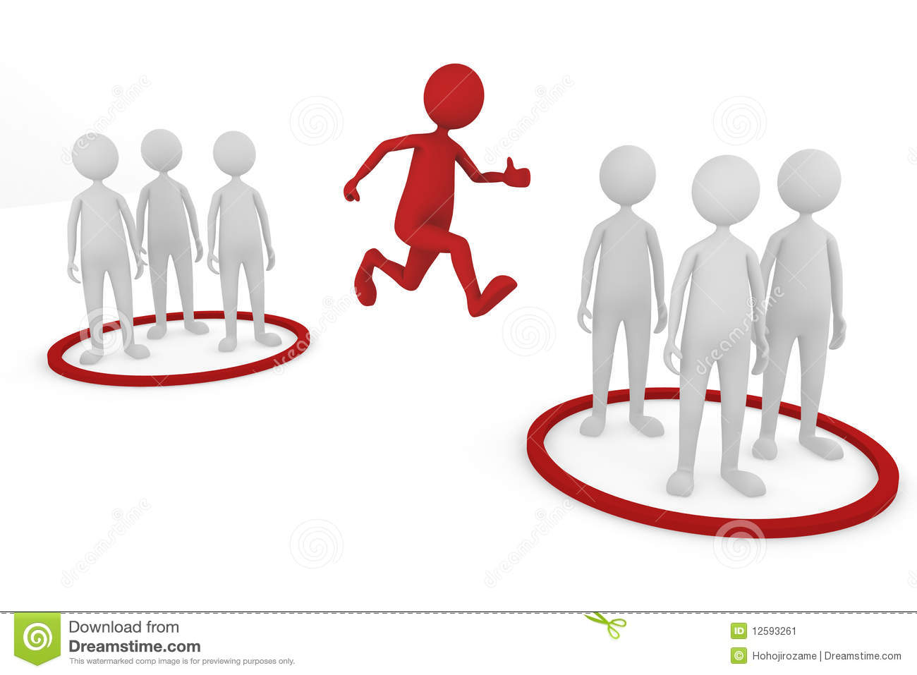 3D concept depicting changing teams, great for either business or ...
