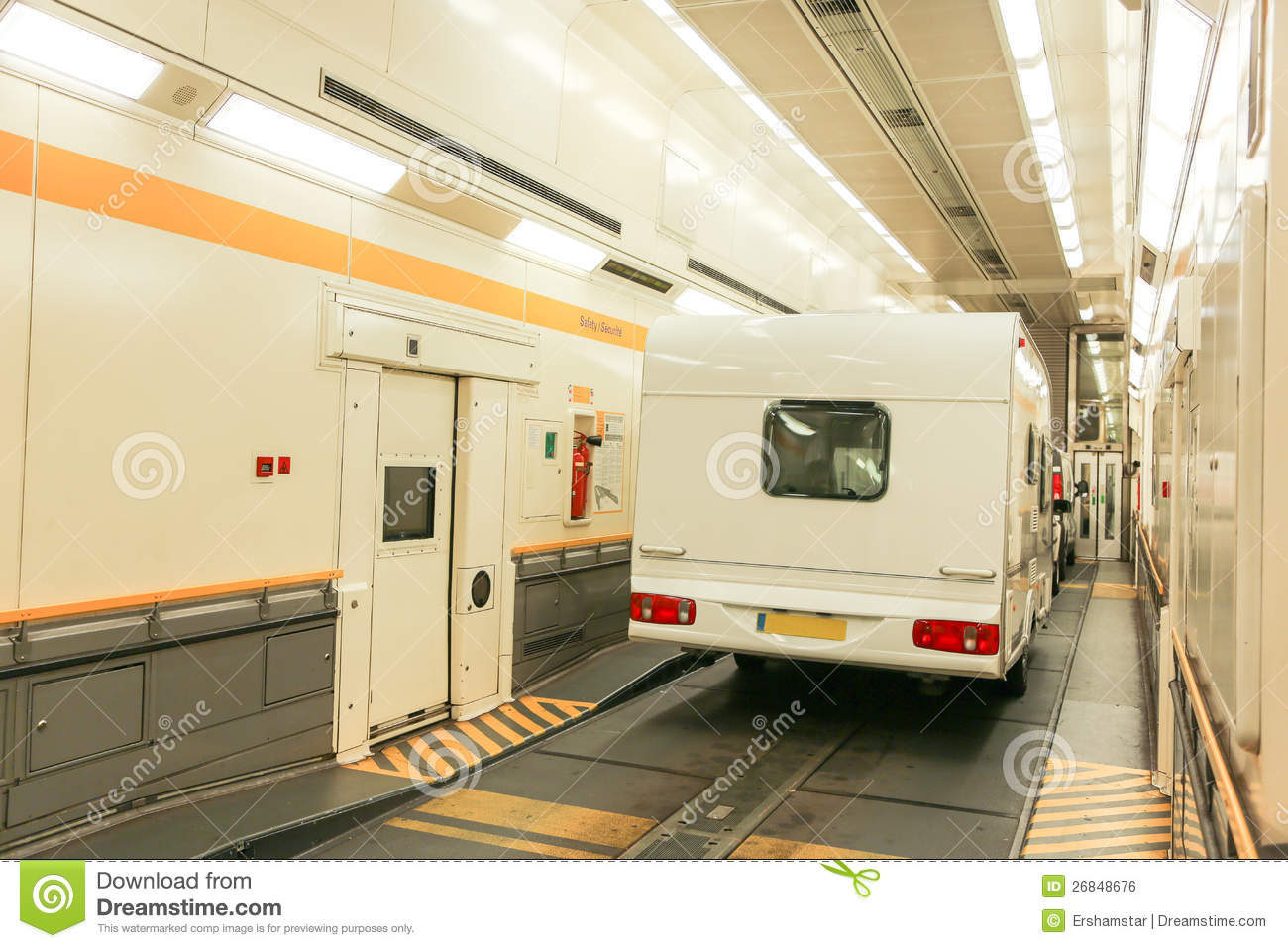 Channel Tunnel Train Carriage Stock Photo Image Of Travel Nobody