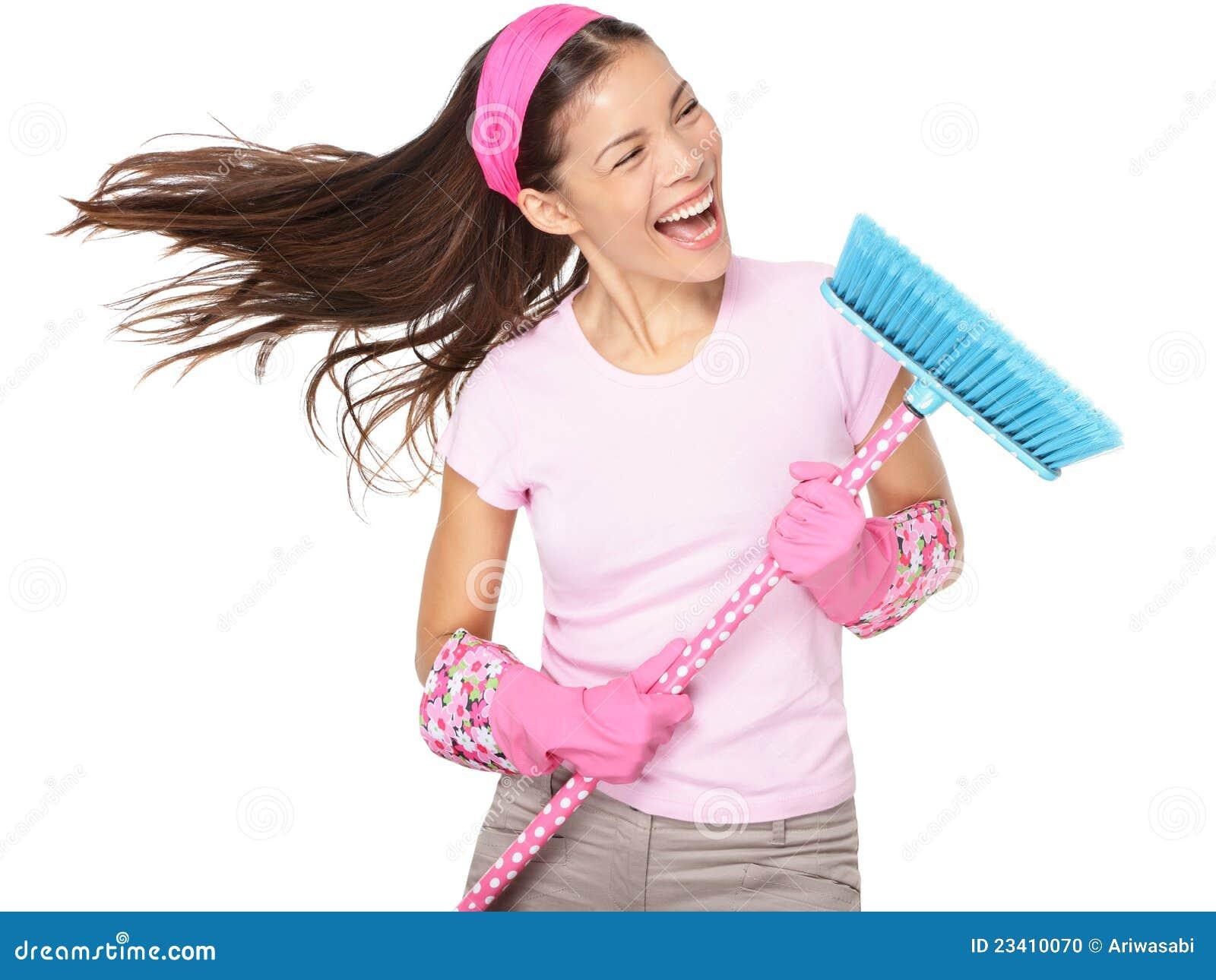 Chant de femme de nettoyage