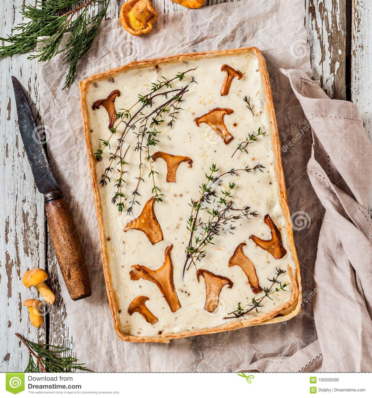 Chanterelle and Thyme Tart