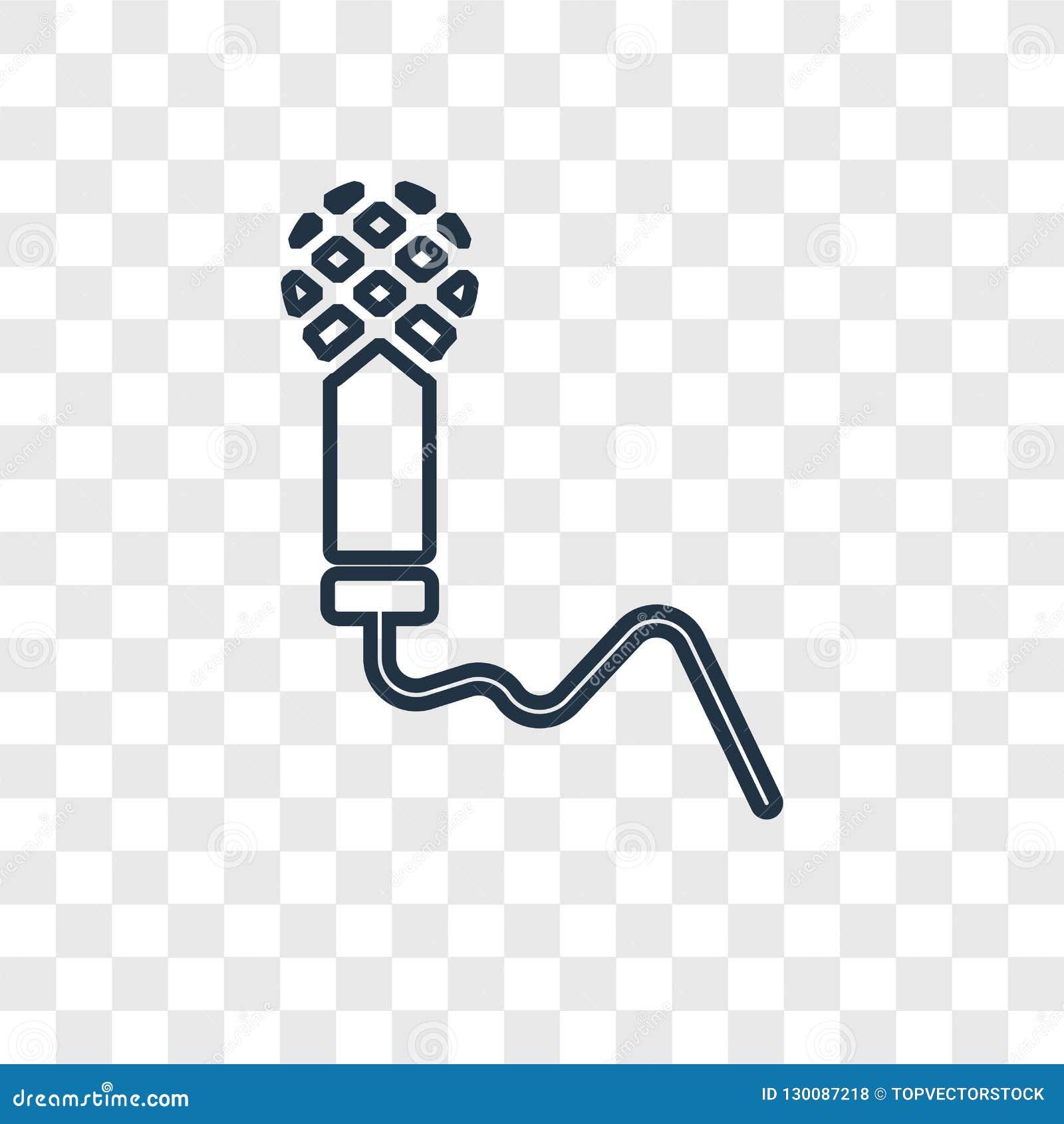 Chantez à vecteur de concept l icône linéaire d isolement sur le backgrou transparent