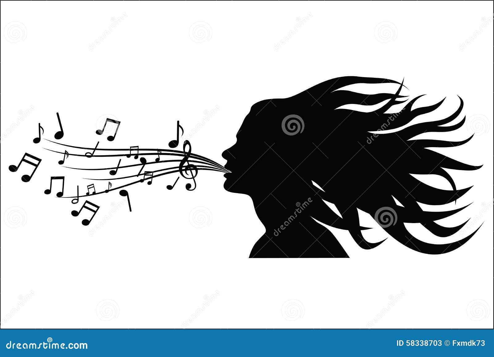 Chantez la silhouette de femme