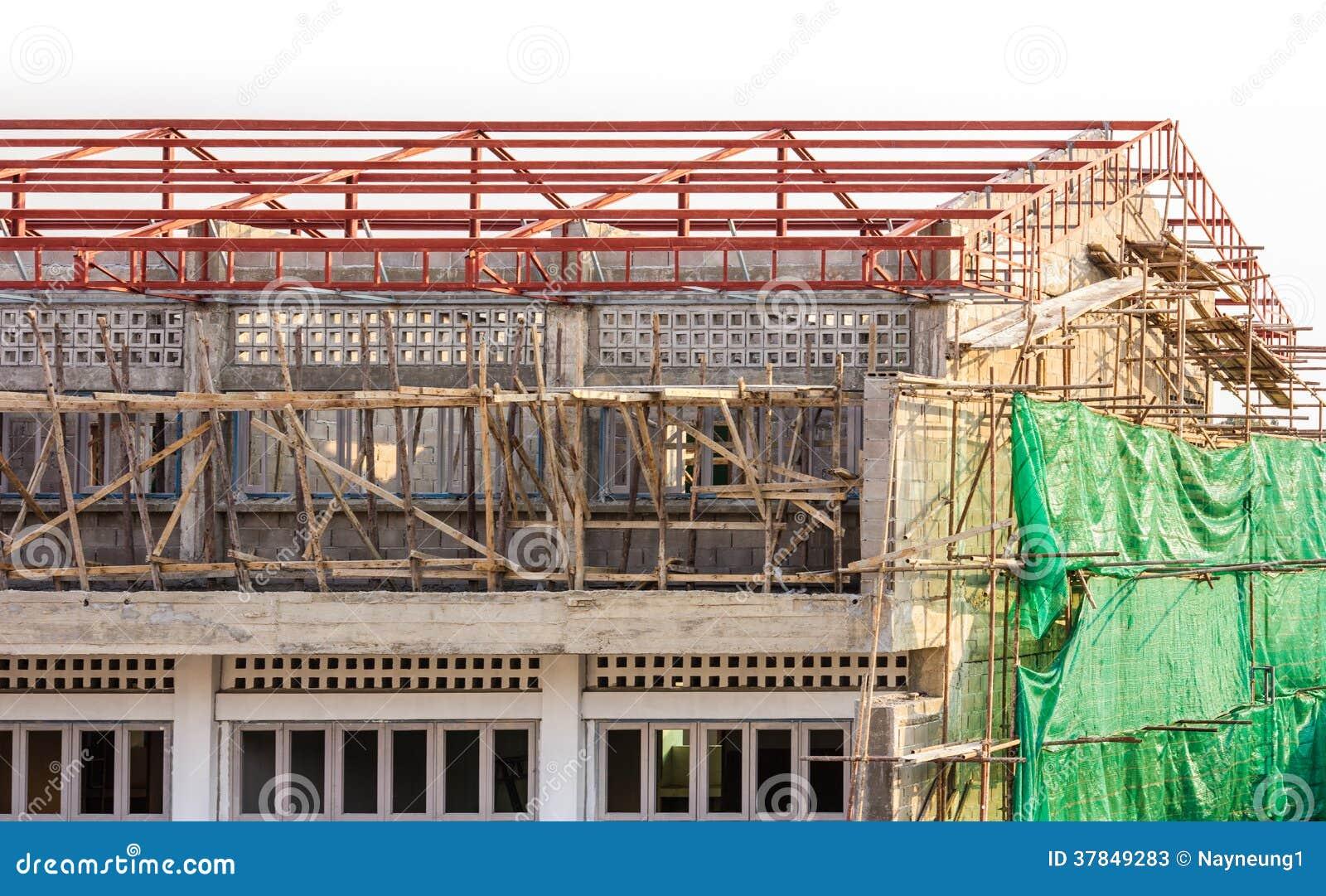 chantier de b timent et de construction en cours photos stock image 37849283. Black Bedroom Furniture Sets. Home Design Ideas
