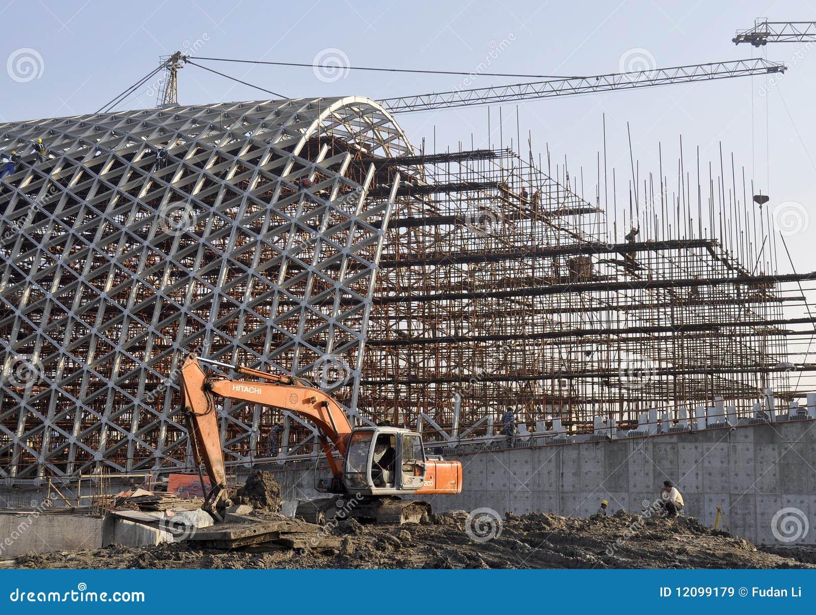 Chantier de construction images libres de droits image for Chantiers de construction